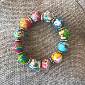 Lilly Pulitzer Hand Painted Beaded Bracelet
